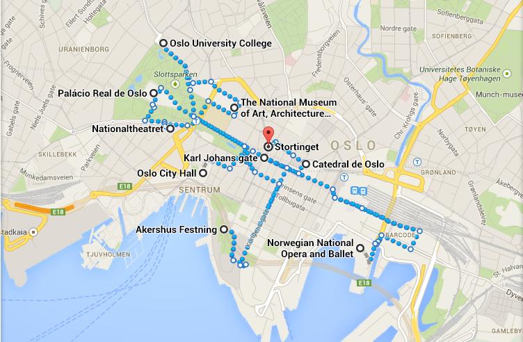 Itinerário pelas principais atrações do centro de Oslo