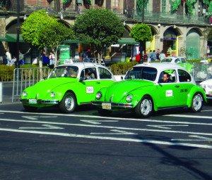 Táxis característicos da Cidade do México