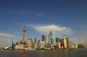 Xangai - Bairro Pudong. Autor: Pyzhou sob licença Creative Commons Attribution-ShareAlike 3.0