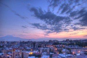 Vista dos Edifícios de Erevan