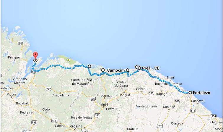 Itinerário pelas belezas naturais do Nordeste do Brasil