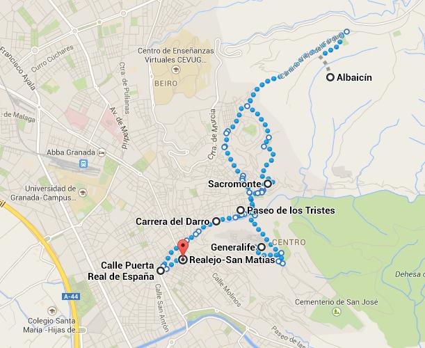 Itinerário em Granada