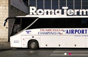 Shuttle do aeroporto para o centro da cidade. Fonte: http://www.romeairportbus.com