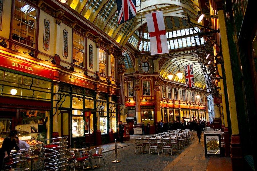 Comer nos mercados de Londres