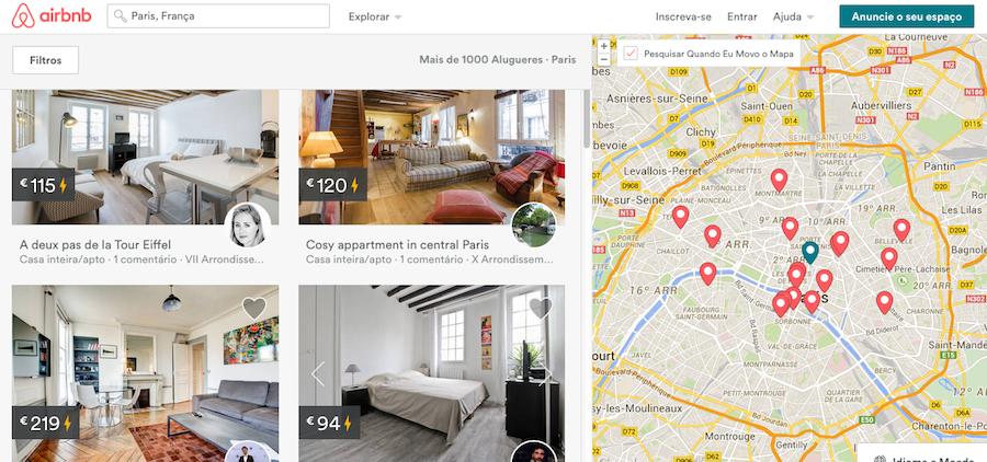 Apartamentos e quartos baratos com o Airbnb