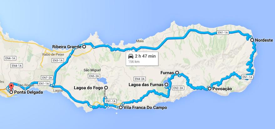 Visita de carro aos pontos turísticos de São Miguel