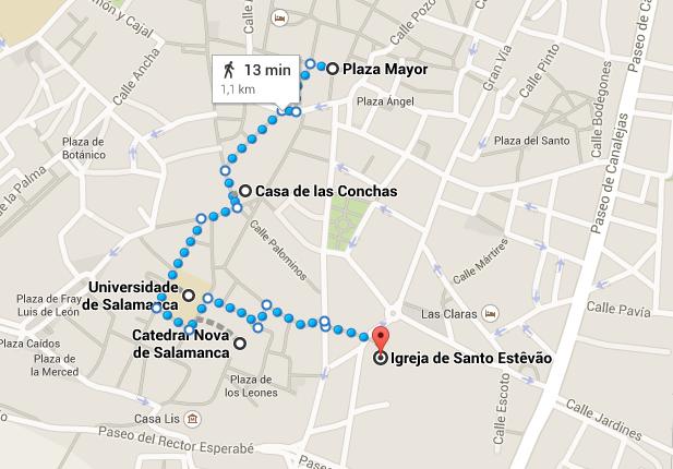Passeio a pé no centro histórico de Salamanca